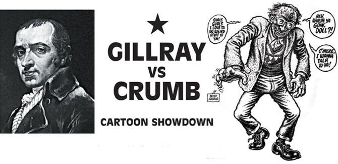 From the VAULT: Gilray vs Crumb Cartoon Showdown