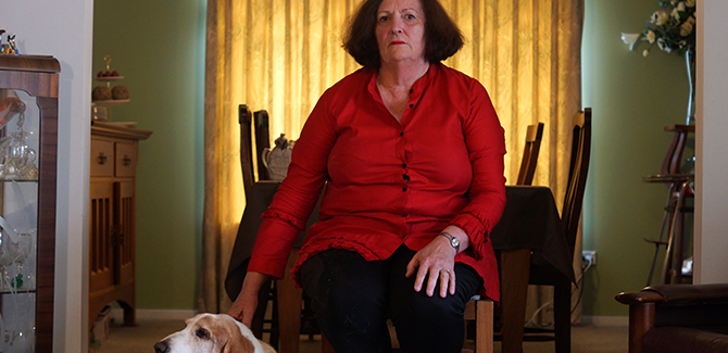 Serana Hunt, Di Feldtman (detail) from the series Dookie Behind Doors 2014, photograph.