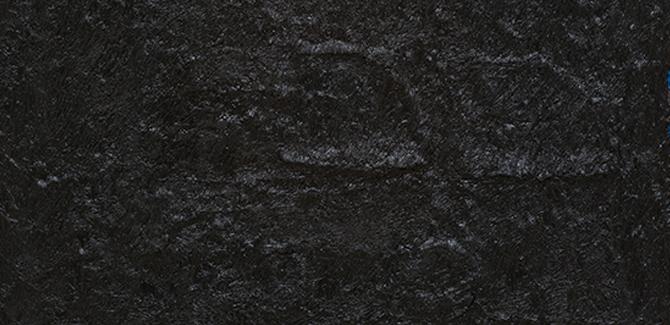 Jake Walker, 'Black Painting 1' (detail) 2012-13, oil on board.