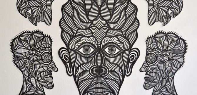 Philip Faulks, Consumer 2010, 23 x 22 cm.Philip Faulks, In Your Secret Life (2013), 140 x 160 cm.