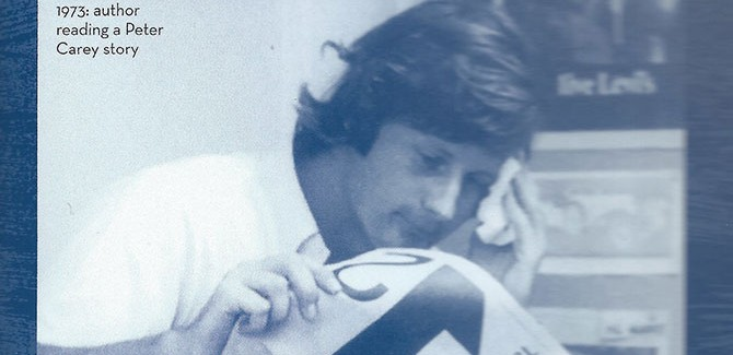 Author reading a Peter Carey story, 1973