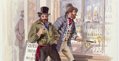 S.T. GILL, Improvident diggers in Melbourne (detail) 1869, watercolour, State Library Victoria.
