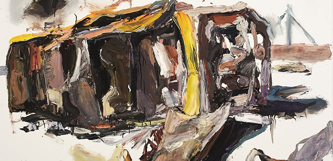 Ben Quilty, 'Tarin Kot, Hilux' painted in Robertson, New South Wales, 2012 oil on linen, 140 x 190 cm collection of the artist