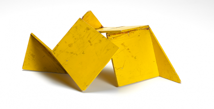 Ron ROBERTSON-SWANN, Maquette for Vault 1978, synthetic polymer paint on balsa wood, 19.8 x 41.5 x 25.7 cm, National Gallery of Victoria, Melbourne. Purchased with the assistance of the NGV Foundation, 2005 (2005.243) © Ron Robertson-Swann/Licensed by VISCOPY, Australia. Hard Edge: Abstract Sculpture 1960s – 70s, The Ian Potter Centre: NGV Australia (VIC), 13 February – July 2016