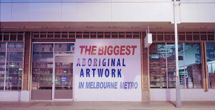 Steven Rhall, 'THE BIGGEST ABORIGINAL ARTWORK' (detail) 2014, Inkjet print 140 x 114cm. Reframed, Guest Curated by Kent Morris, Incinerator Gallery, 180 Holmes Road, Moonee Ponds (VIC), until 24 July