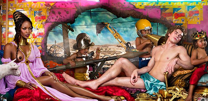 David LaChapelle, Rape of Africa, Los Angeles, 2009.